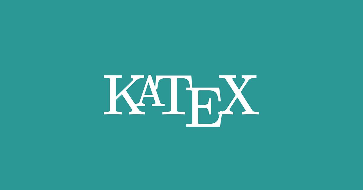 Options · KaTeX